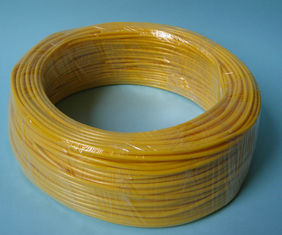 Yellow Flexible PVC Tubing 600V / 300V Voltage Rating , PVC Flexible Hose For Wire Harness